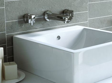 Cameo three quarter angle 3D Product Visualisation of a Bristan Sink with Accessories