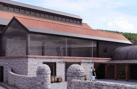 Arcitectural Visualisation of Stone Brick Building