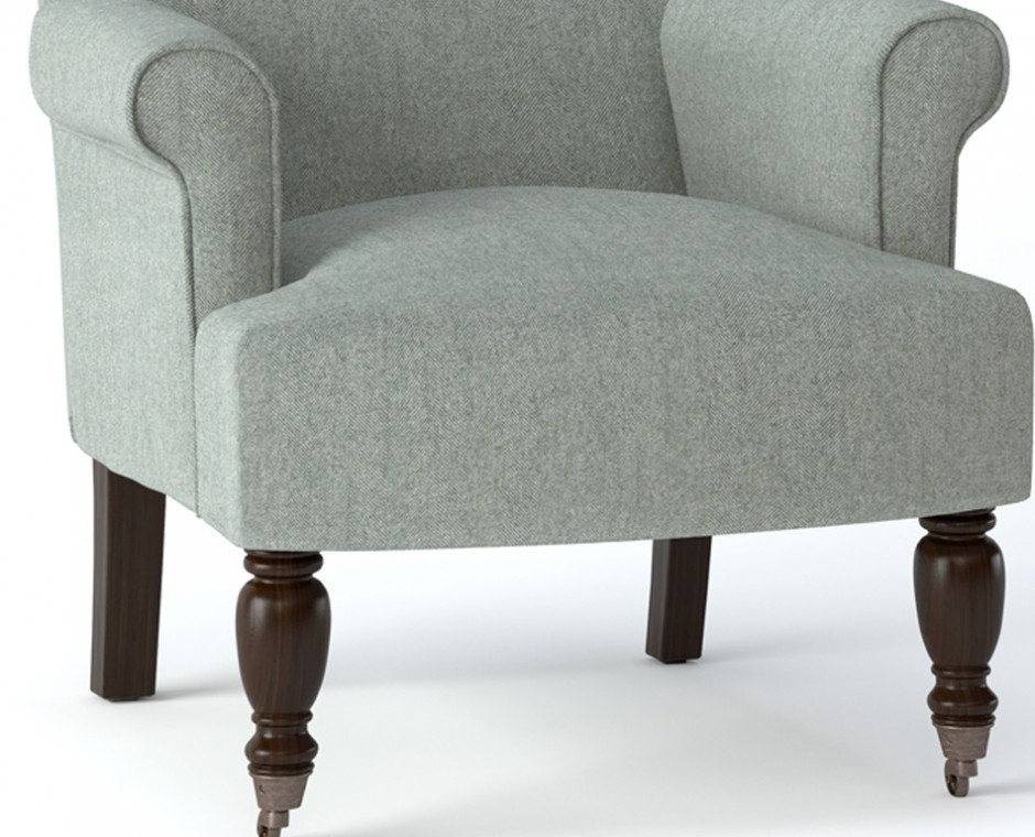 Cameo detailed straight on angle Neptune Product Visualisation focusing on lower centre upholstered chair