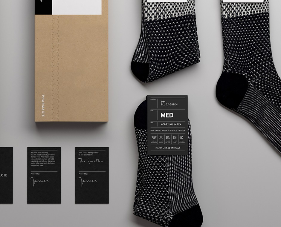 Cameo product detailed top down angle Neptune Product Visualisation focusing on mens sock's and package details
