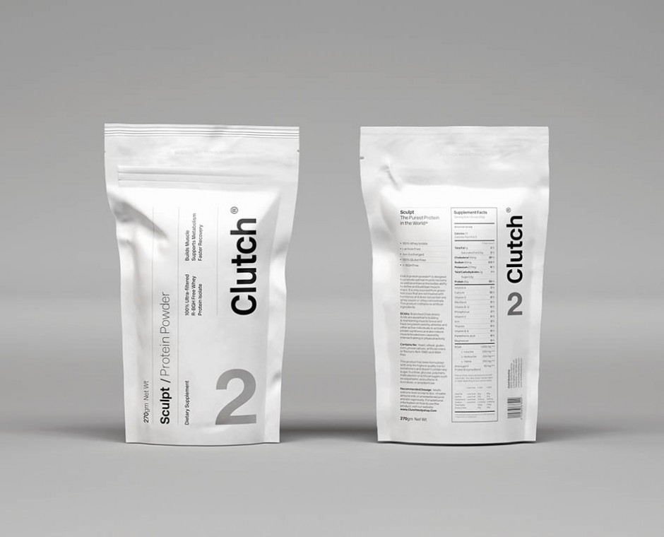 Cameo product detailed front on angle Neptune Product Visualisation focusing on fitness and nutrition packaging front and back