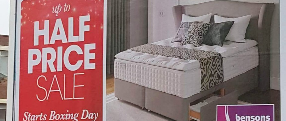 bensons for beds product visuals