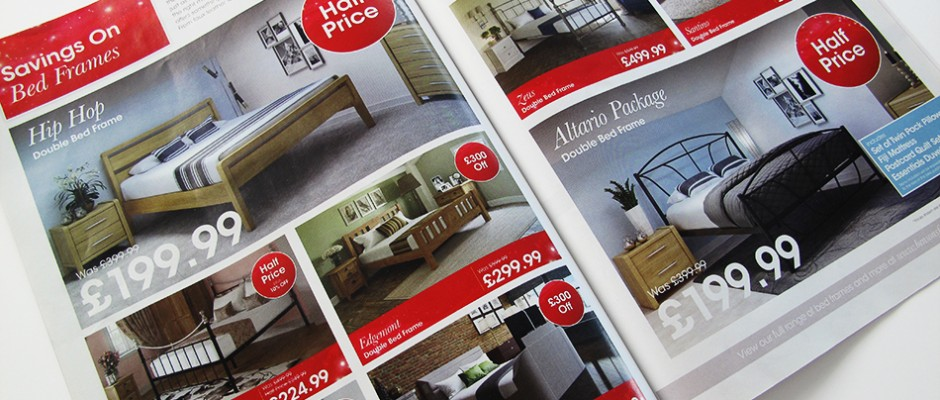 bedroom furniture brochure design