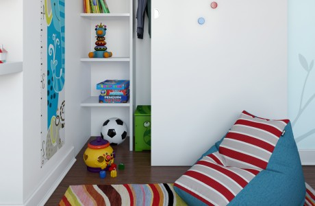interior visualisation of childrens bedroom