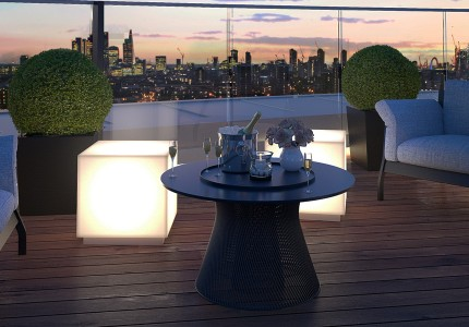 3d rendering of apartment balcony
