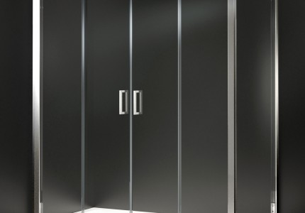 3d rendering square glass double shower cubicle