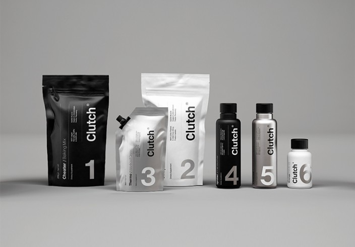 Rendered graphics of nutrition products on a grey background