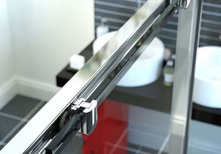 product visual of chrome shower door frame