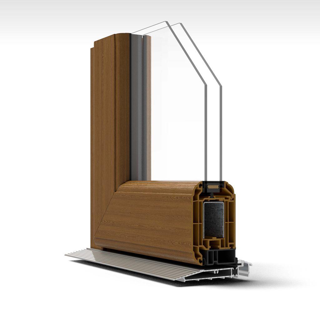 Cut through of window model